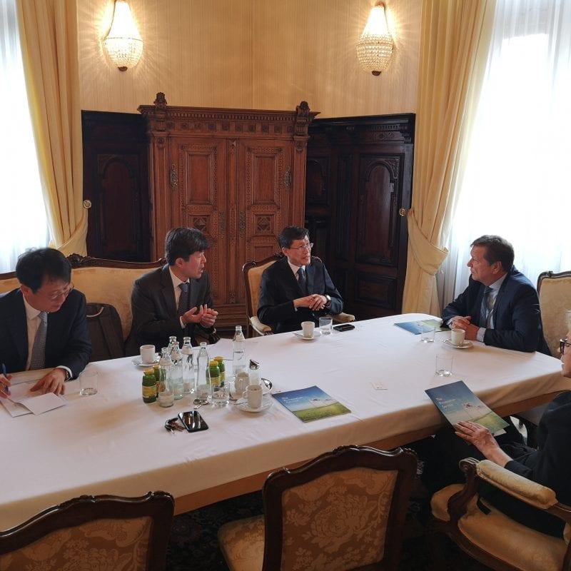 Foto: Empfang einer südkoreanischen Delegation